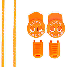 Lock Laces Run Laces, neon orange